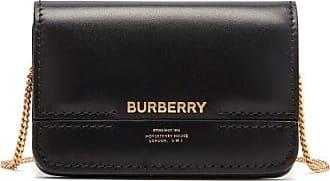 Burberry Jody Logo-print Chain-strap Leather Wallet - Womens - Black
