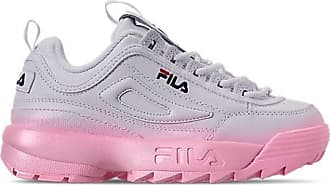 Fila Womens Disruptor 2 Premium Fade Casual Shoes, Pink/White