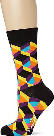 Happy Socks Womens Optiq Square Sock, Multicolour (Multicolour 935), 4-7 (Size:36-40)