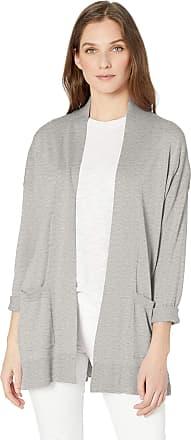 Chaps Womens Petite 3//4 Sleeve Cotton Crewneck Cardigan