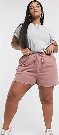 Asos Curve ASOS DESIGN Curve - Sweat-Shorts-Braun