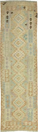 Nain Trading 288x83 Oriental Rug Kilim Afghan Runner Beige (Wool, Afghanistan, Handwoven)