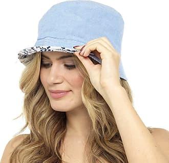 Tom Franks Ladies Lightweight Reversible Bucket Hat Blue Floral M/L