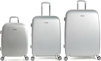 Andrew Marc 3-Piece Set Expandable Hardside Spinner Luggage - Silver
