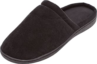 Zapato Mens Mules Slippers with Comfort Footbed and Firm Rubber Sole Size 41-45 Black Black Size: 11 UK