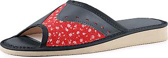 Ladeheid Womens Slippers House Shoes LAFA024 (Dark Blue/Red, 40 EU = 6.5 UK)