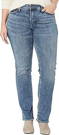Women/'s Elyse Straight Leg Mid Rise Curvy Indigo Size 28x32 New Silver Jeans Co