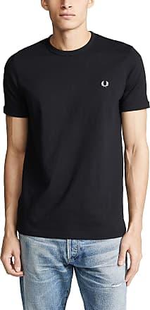 Fred Perry Mens Ringer T-Shirt, Black, Medium