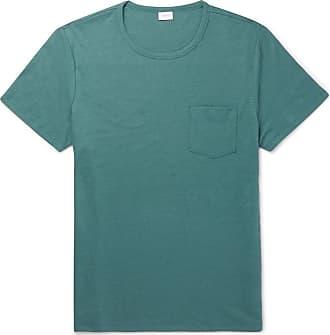 Onia Chad Linen-blend T-shirt - Green