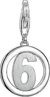 ESPRIT Damen-Charm 925 Sterling Silber rhodiniert Letter Fabric V ESCH91143A000