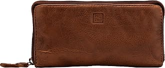 DuDu Portafoglio Donna con Cerniera Zip Around Grande Pelle Vintage Borsello Multi Tasche Portamonete Onyx Brown