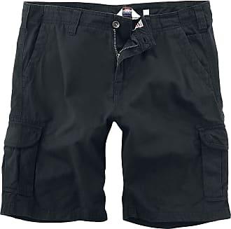 Lonsdale Mens Wakeman Cargo Shorts, Black, Xx Large