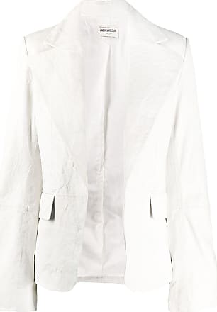 Zadig & Voltaire Fashion Show Vichy crinkled-effect jacket - White