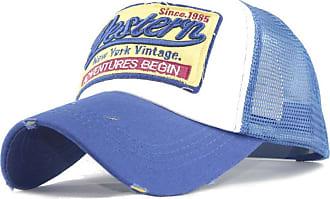 QUINTRA Embroidered Summer Cap Mesh Hats for Men Women Casual Hats Hip Hop Baseball Caps (Blue)