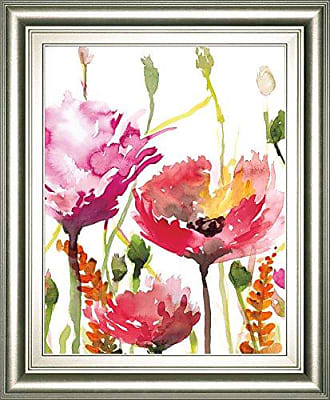 Classy Art Blooms and Buds by Rebecca Meyers Framed Print Wall Art, Pink