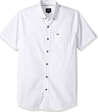 Rip Curl Mens Ourtime S/s Shirt, White, S