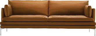 ZANOTTA Design William Sofa Leather & Extra Cushions 3-Seater