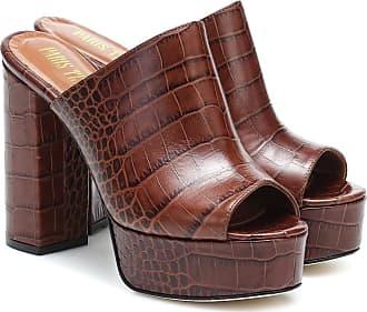PARIS TEXAS Croc-effect leather platform sandals