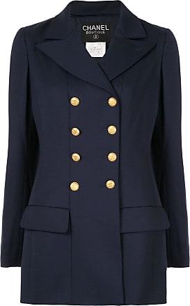 Chanel Chanel long sleeve coat jacket - Blue
