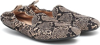 Gianvito Rossi Snake-print leather loafers