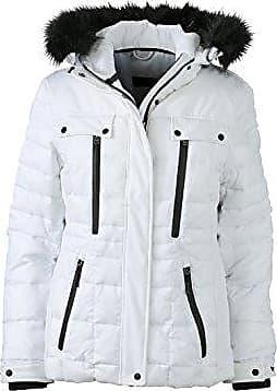 8236c06c76af4e James & Nicholson Damen Jacke Jacke Wintersport Jacket weiß (White/Black)  Medium