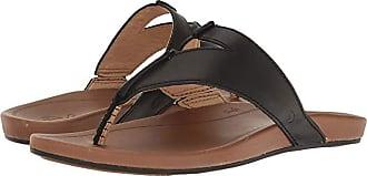 Olukai Lala (Black/Tan) Womens Sandals