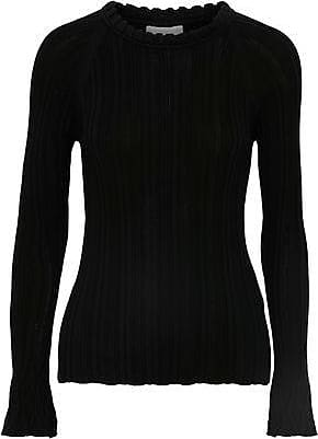 577064bd878dcd 3.1 Phillip Lim 3.1 Phillip Lim Woman Ribbed Silk And Cotton-blend Sweater  Black Size