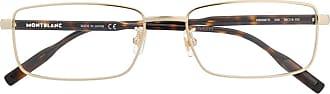 Montblanc Armação de óculos retangular - Dourado