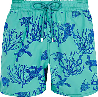 Vilebrequin Veronese Green Polyamid Flockees Coral und Turtles Moorea Badeshorts - m | Veronese Green