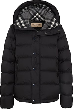 Burberry check padded coat - Black