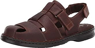 bd9bb4377 Clarks Mens Malone Cove Fisherman Sandal Dark Brown Tumbled Leather 070 M US