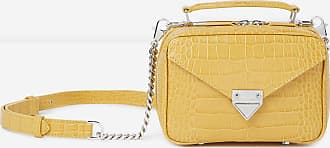 The Kooples Mini yellow Barbara bag in leather - WOMEN