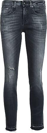 R13 skinny cropped jeans - Black