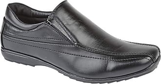 US Brass Mens Custer/Clipper Twin Gusset Shoes (8 UK) (Black)
