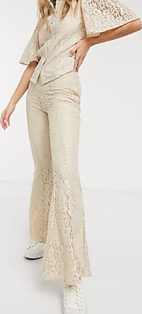 Résumé Resume tawny lace flared trousers in sand-Brown