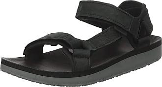 Teva Mens Original Universal Premier Leather Sports and Outdoor Lifestyle Sandal, Black, 11 UK (45.5 EU)