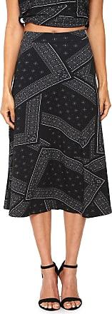 Calvin Klein Jeans Saia Calvin Klein Jeans Midi Geométrica Grafite