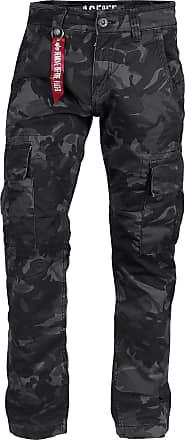 Alpha Industries Agent Pant Cargo Hose black camo, Größe 29
