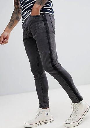 Brave Soul Jeans mit Zierstreifen-Schwarz