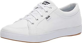 Keds Womens Center Sneaker, White Twill, 100 M US