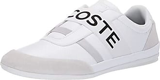 Lacoste Mens Misano Sneaker, White/Light Grey, 9.5 Medium US