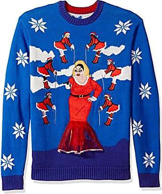 Maglione Di Natale Ho Ho Ho MEN/'S blu navy sweater