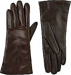 Barneys New York Womens Tech-Smart Leather Gloves - Brown Size 6.5