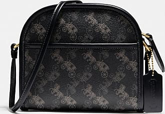 Coach Zip Crossbody With Horse And Carriage Print in Black