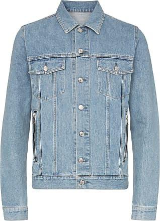 Balmain embroidered logo denim jacket - Blue