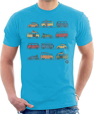 Volkswagen Vans and Beetles Mens T-Shirt Sapphire