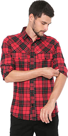 Dimy Camisa dimy Reta Xadrez Vermelha/Preta