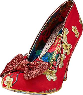 Irregular Choice Womens Nick of Time Closed Toe Heels, Red (Red/Gold Ba), 8.5 (43 EU)