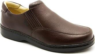 Doctor Shoes Antistaffa Sapato Masculino 410 em Couro Floater Café Doctor Shoes -Café-42