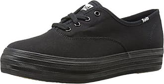 Keds Womens Triple Canvas Fashion Sneaker,Black/Black,6.5 M US